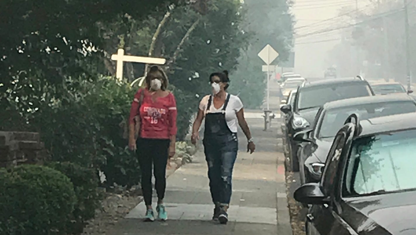 California fires are causing a run on face masks. Warning: flat blue masks won't work