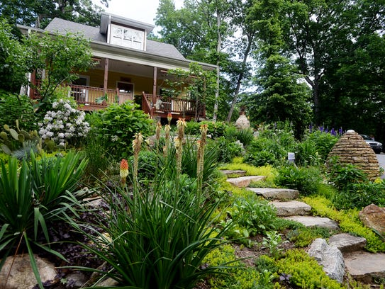 Samantha Bowers and Peter Pfister's home and lush garden