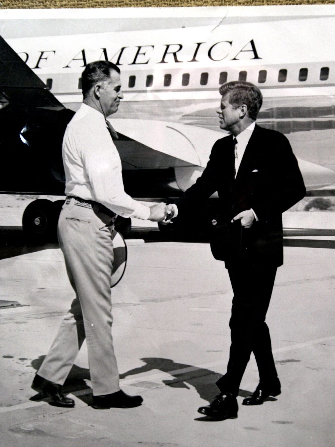 President John F. Kennedy is greeted by Palm Springs