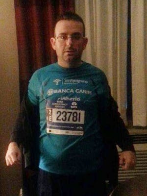 This undated photo provided by the New York Police Department shows Gianclaudio Marengo. Marengo, an Italian man who speaks only Italian,  ran in the New York City Marathon and was reported missing.