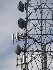 A communication tower at the Delaware State Police headquarters in Dover is shown. Documents show the agency has bought surveillance equipment that can be used to collect cellphone data, a technology that has raised concerns among privacy advocates.