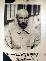 Ben Steele as a prisoner of war in Japan in World War II. The Billings artist died Sept. 18.