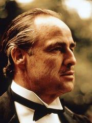 "Marlon Brando is shown in ""The Godfather."""