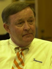 University of Tennessee president Dr. J. Wade Gilley during an interview after starting his new job.