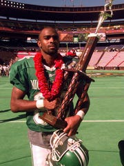 Michigan State's Gari Scott walks off the Aloha Bowl