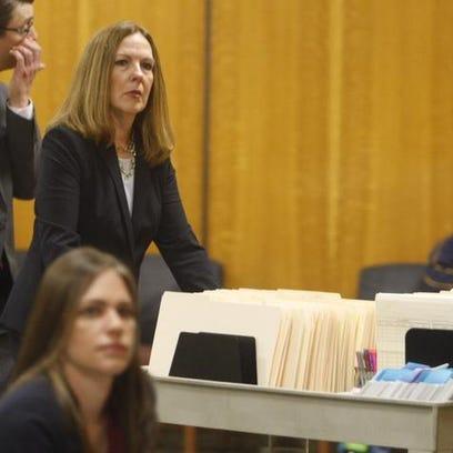 Monroe County District Attorney Sandra Doorley arrives