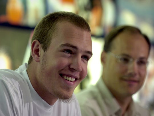 Nick Fazekas, left, came to Nevada in large part because