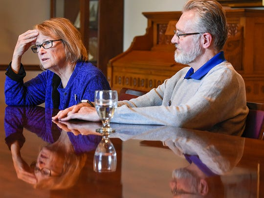 Patty and Jerry Wetterling spoke to media Tuesday,