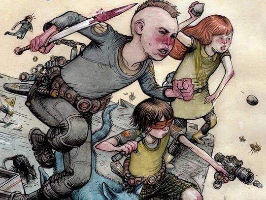 Farel Dalrymple inhabits a post-apocalyptic with battle-ready