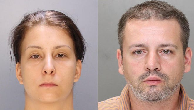 Aura Voicu, left, and Silviu Serban, both of Romania, allegedly ran an ATM scheme from Bellmawr motel rooms.