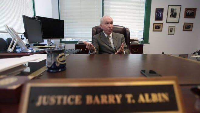 New Jersey Supreme Court Associate Justice Barry T. Albin.