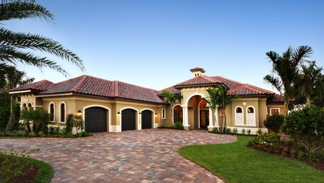 Florida Lifestyle Homes has drawn on the Cambridge model design for a new golf course home at Quail West.