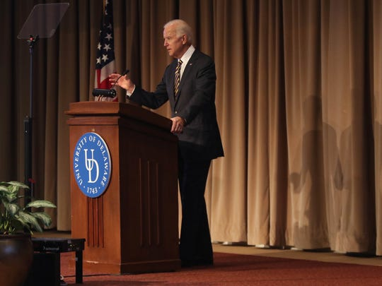 The Honorable Joe Biden, former Vice President of the United States speaks at the annual Vision Conference that discusses the future of education in Delaware.