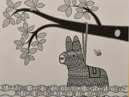 Area artist Sherry Mason's pen and ink drawings will