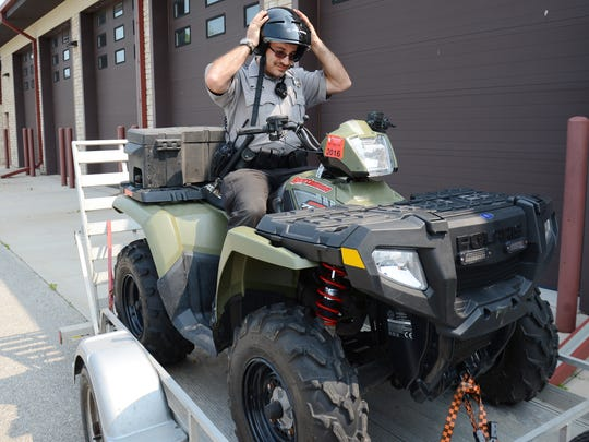 Wearing a DOT-approved helmet is an important aspect of ATV safety.