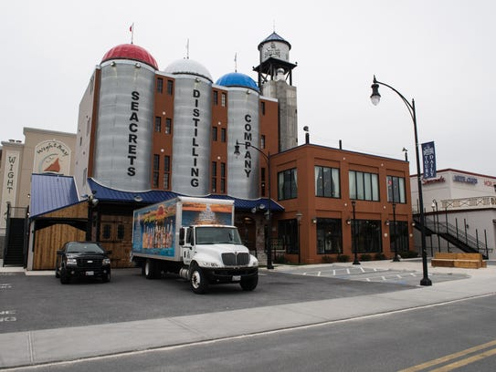 An exterior view of Seacrets Distillery on Monday,