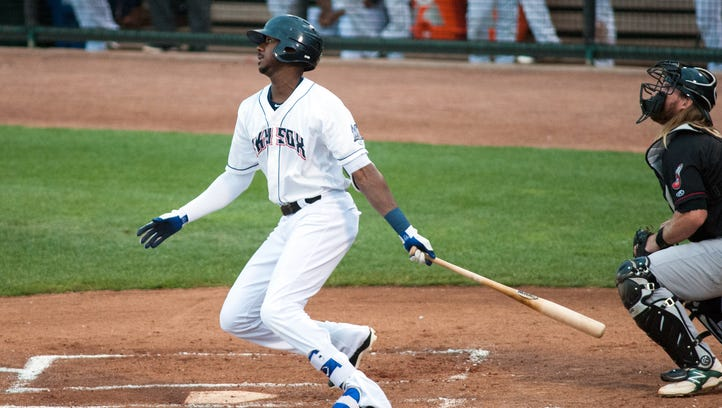 Outfielder Lewis Brinson is the Brewers' top minor-league