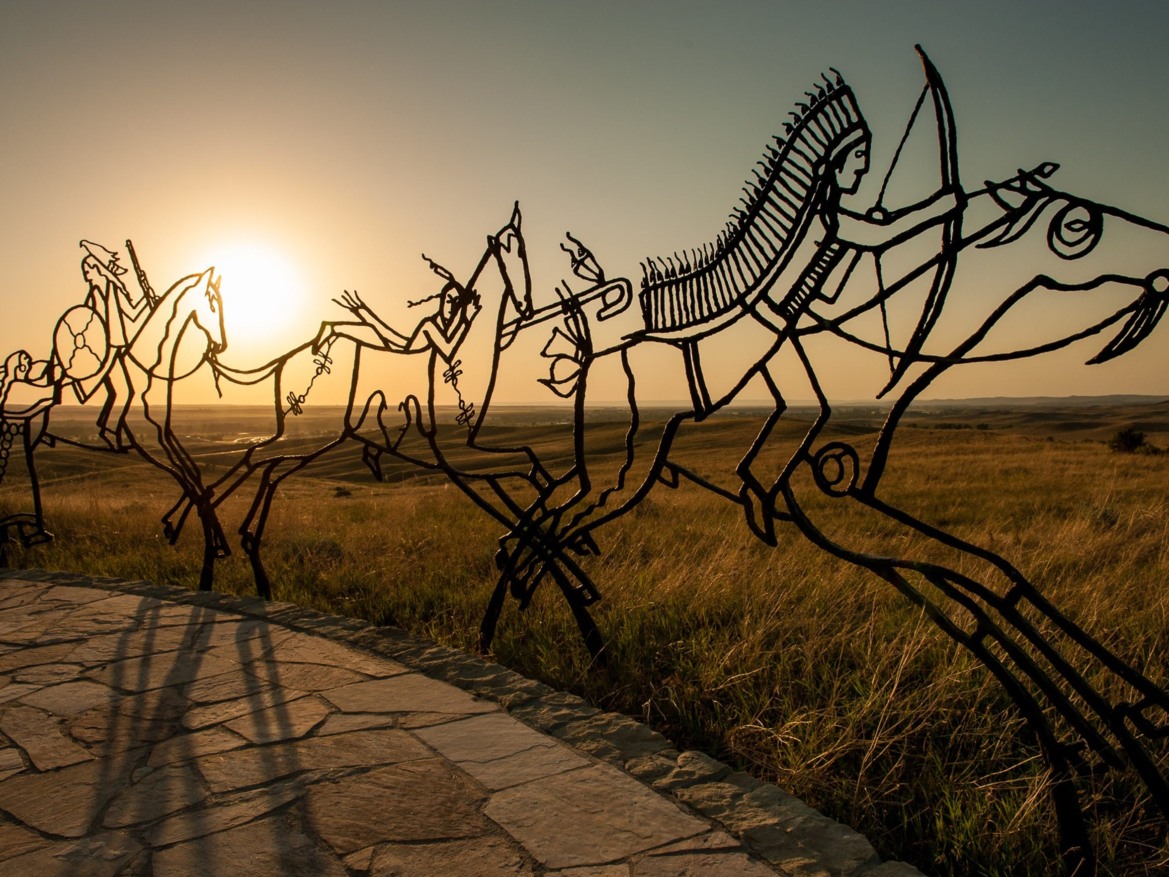 The Indian Memorial at the Little Bighorn National Battlefield honors the Cheyenne, Sioux and Arapaho who fought to preserve their way of life.