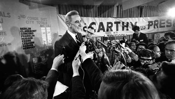 Eugene McCarthy is shown in this March 12, 1968, file