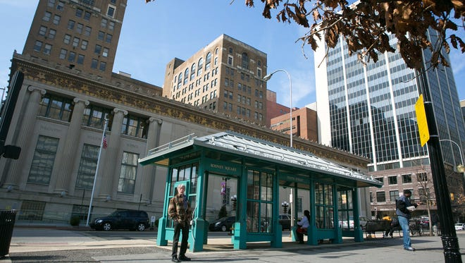 Bus stops will be moving out of Rodney Square to King Street this year as part of a larger restoration project for the downtown Wilmington park.