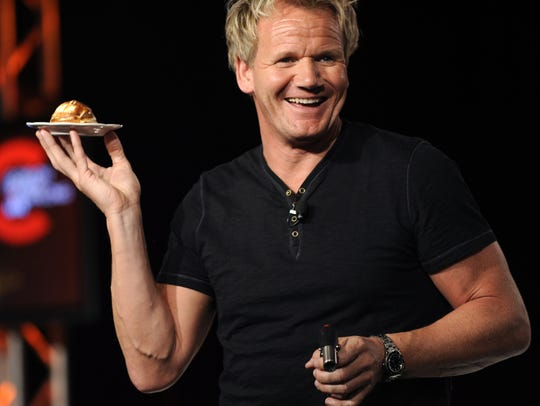 Gordon Ramsay shows television critics how to make