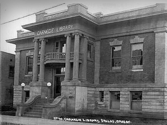 View of the Dallas Carnegie Library shortly after its