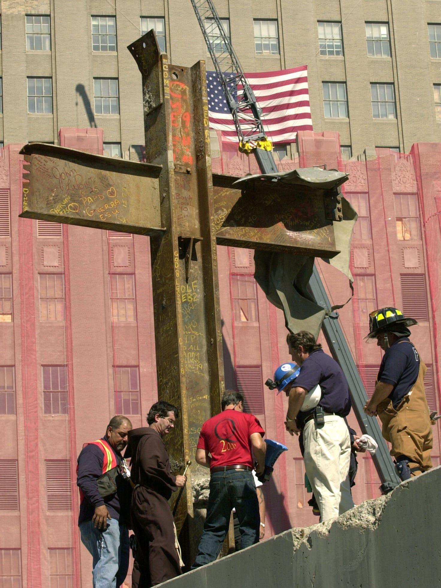 Ground Zero cross a powerful symbol for 9/11 museum