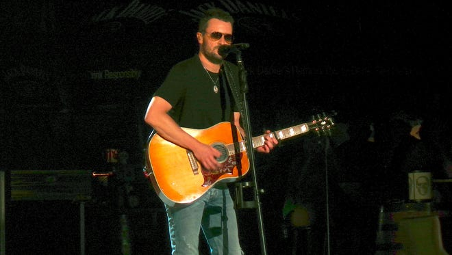 Country singer Eric Church performs Thursday, July 30, at Ascend Amphitheater in Nashville.