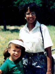 Alana and Patricia Raybon on family vacation