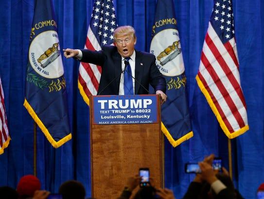 Republican Presidential candidate Donald Trump made