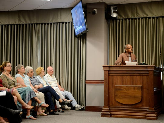 The county commission meeting was particularly crowded