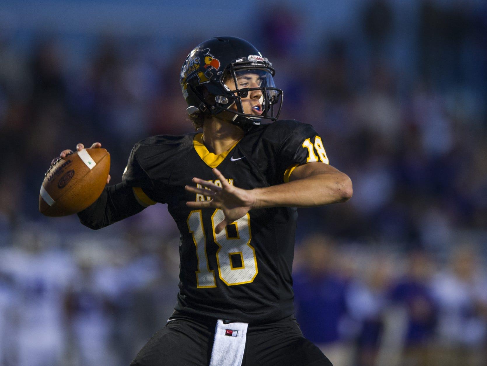 Avon quarterback Brandon Peters.