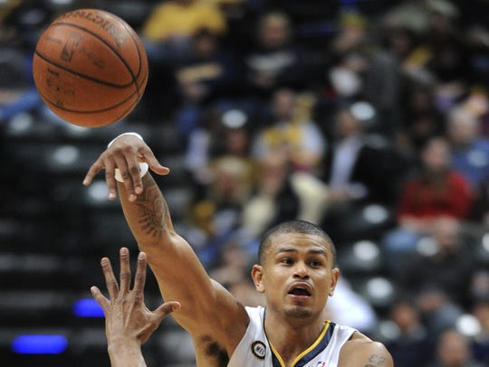Pacers guard Earl Watson, shown here versus Utah in