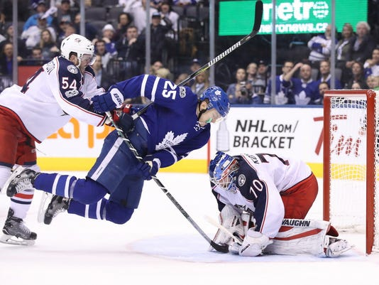 USP NHL: COLUMBUS BLUE JACKETS AT TORONTO MAPLE LE S HKN TOR CBJ CAN ON