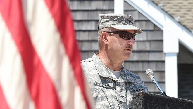 MEMORIAL DAY: Delaware National Guard Col. Frank Santore was the guest speaker at the Memorial Day service in Bethany Beach.