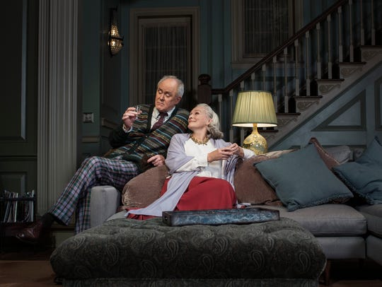 "John Lithgow and Glenn Close in Edward Albee's ""A Delicate"