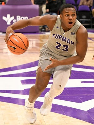 Playing an average of almost 17 minutes per game, Jordan Lyons averaging 7.7 points for Furman this season.