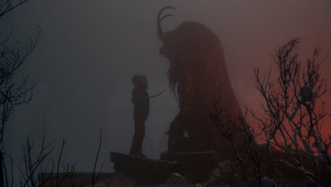 Max (Emjay Anthony) comes face to face with a yuletide deity in 'Krampus.'