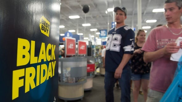 Early Black Friday shoppers at Best Buy in Jensen Beach