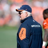Jul 31, 2015; Englewood, CO, USA; Denver Broncos defensive coordinator Wade Phillips during training camp activities at the UCHealth Training Center. Mandatory Credit: Ron Chenoy-USA TODAY Sports
