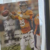Manning sent a poster and special birthday message to Elfrieda.