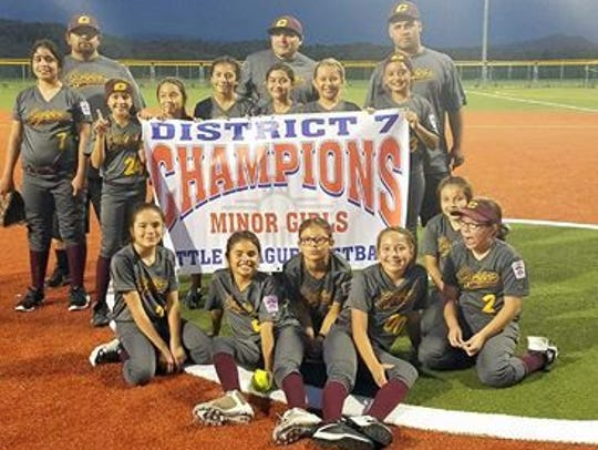 The Copper All-Stars in the Minor Girls Division captured
