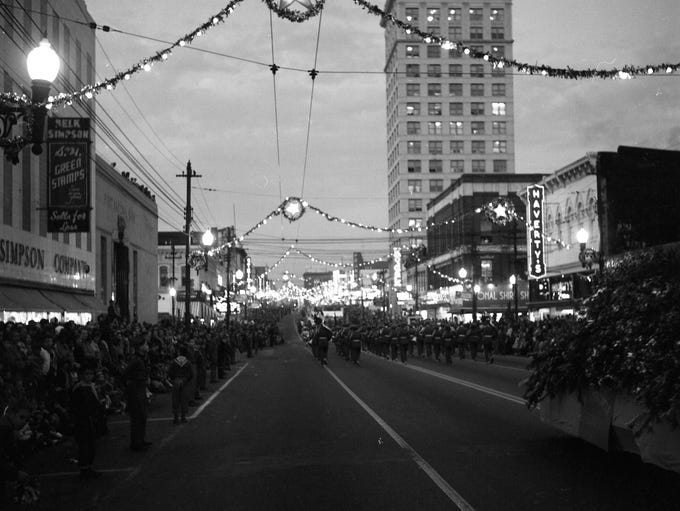 The 1956 Greenville Christmas Parade