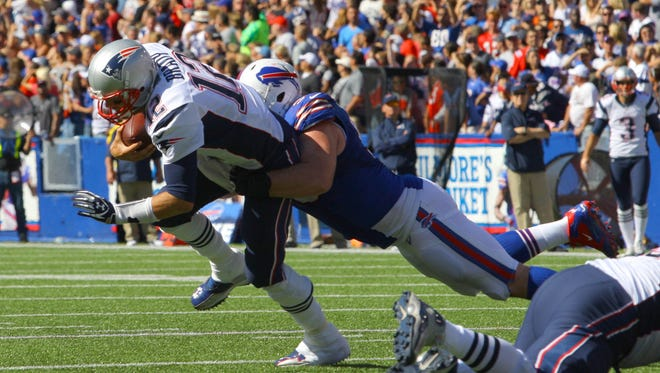 The Bills defense will have to put a lot of pressure on Patriots quarterback Tom Brady today.