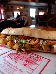 Eat the fried shrimp poboy at Olde Tyme Grocery.