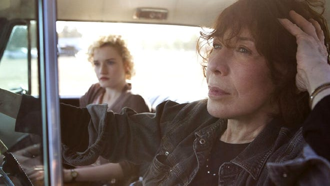 "Lily Tomlin is an acerbic misanthrope, an unlikely source of comfort for her pregnant granddaughter in ""Grandma."""