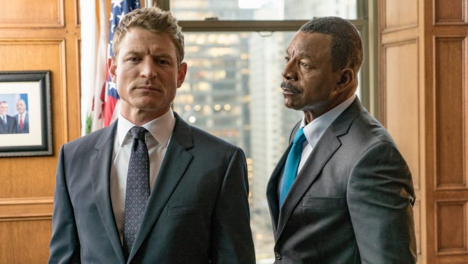Philip Winchester, left, and Carl Weathers star in the new NBC drama, 'Chicago Justice.'