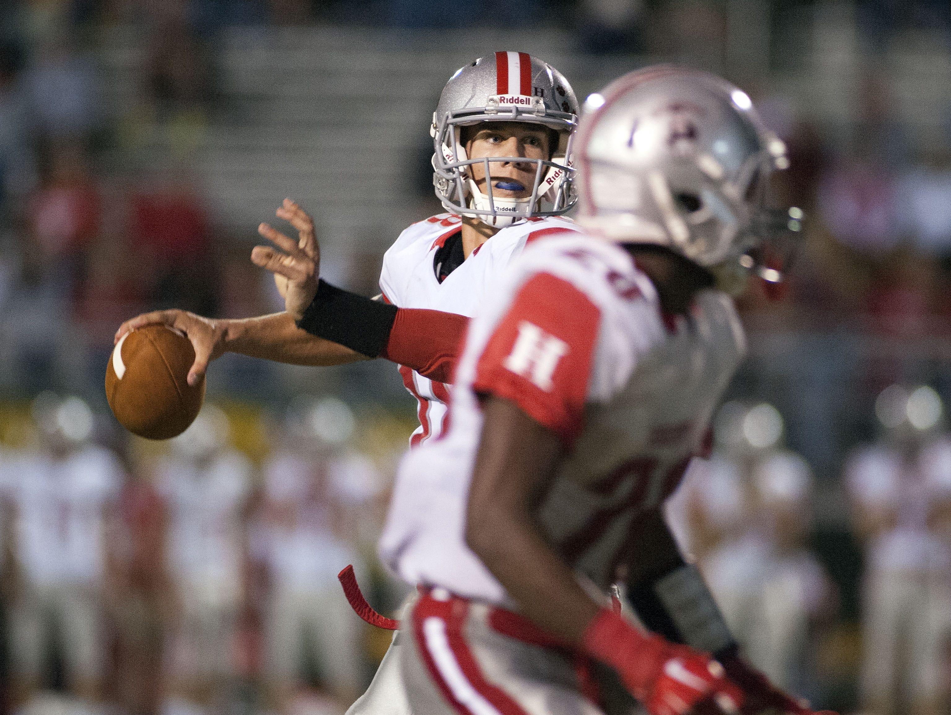 Hendersonville quarterback Michael Schmidt.