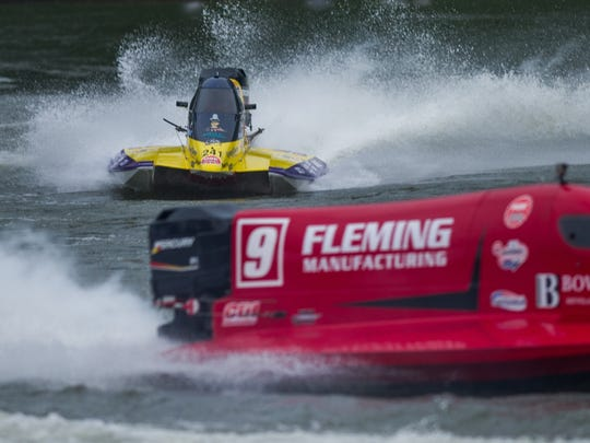 Racers compete during the Thunder on the Cumberland