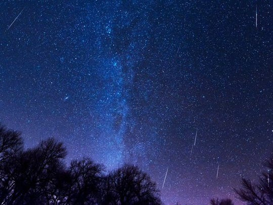 The Geminid meteor shower seen near Limon.